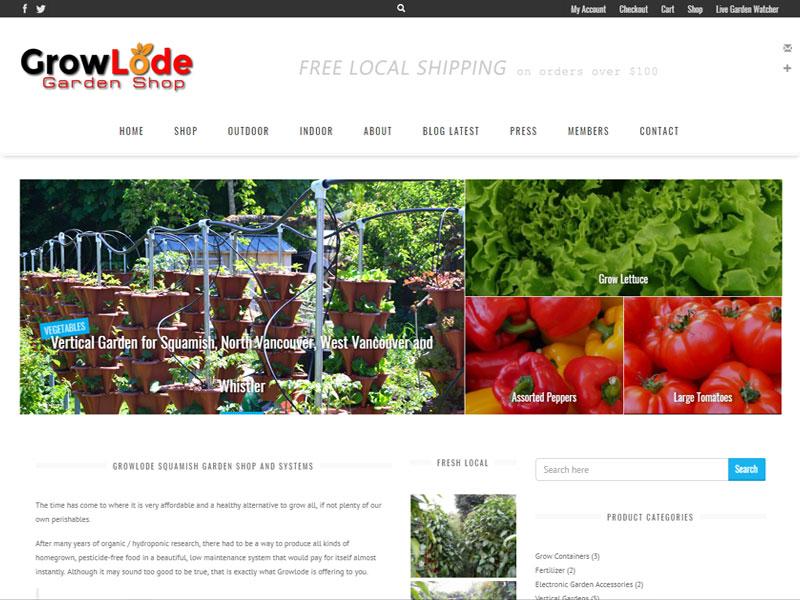 Squamish web design example