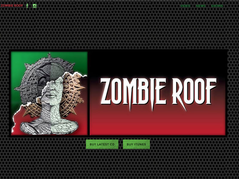 Squamish web design example for rock bandy