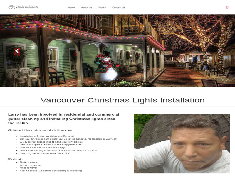 Vancouver website sample for Christmas lights