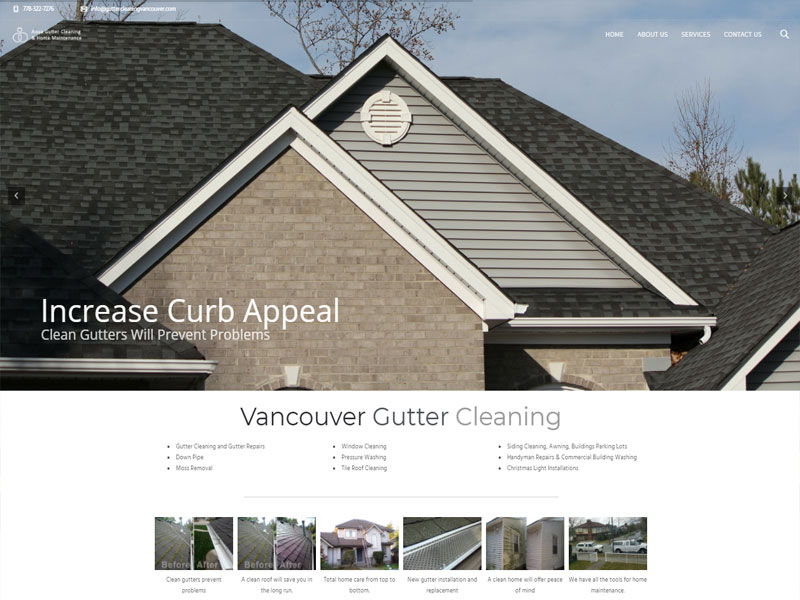 Vancouver web design example