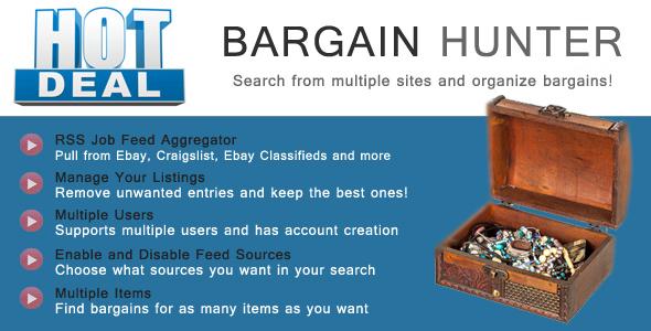 Bargain Hunter PHP Script